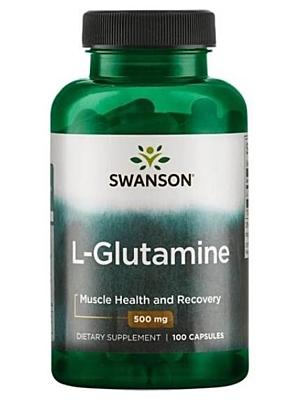 Swanson L-Glutamin 500 mg 100 kapslí