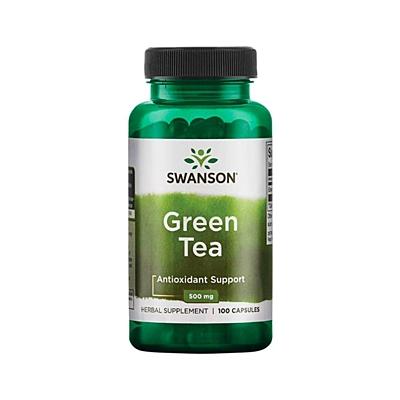 Swanson Green Tea (Zelený čaj) 500 mg 100 kapslí