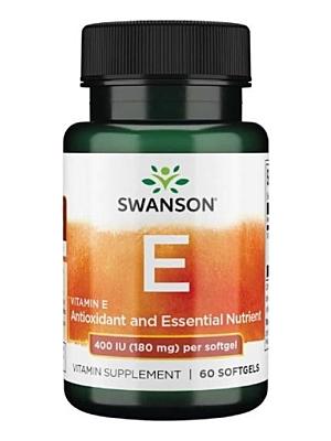 Swanson Vitamín E 400 IU 180 mg 60 kapslí