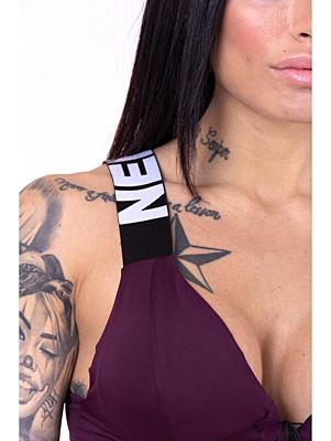 Nebbia sportovní podprsenka Lace-up 694 BURGUNDY fialová