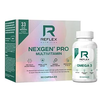 Reflex Nutrition Nexgen PRO 90 kapslí + Omega 3 1000 mg 90 kapslí ZDARMA
