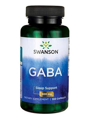 Swanson GABA 500 mg 100 kapslí